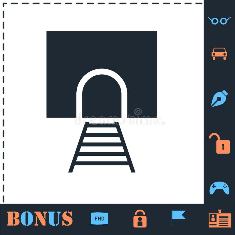 Icono del t?nel ferroviario completamente ilustración del vector