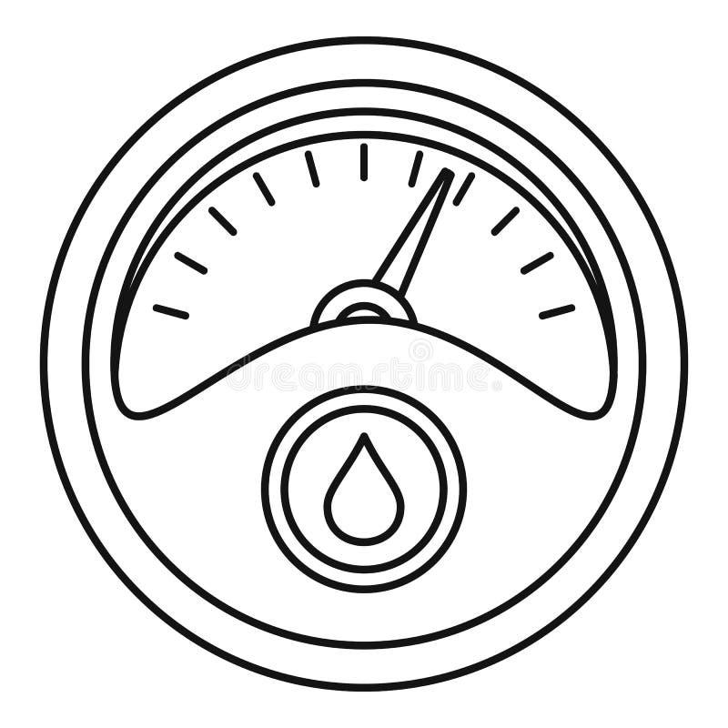 Icono del tablero de instrumentos de la gasolina, estilo del esquema libre illustration