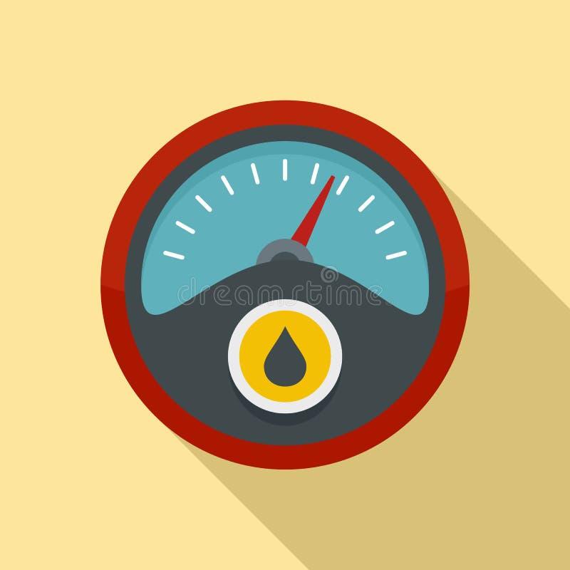 Icono del tablero de instrumentos de la gasolina, estilo plano ilustración del vector