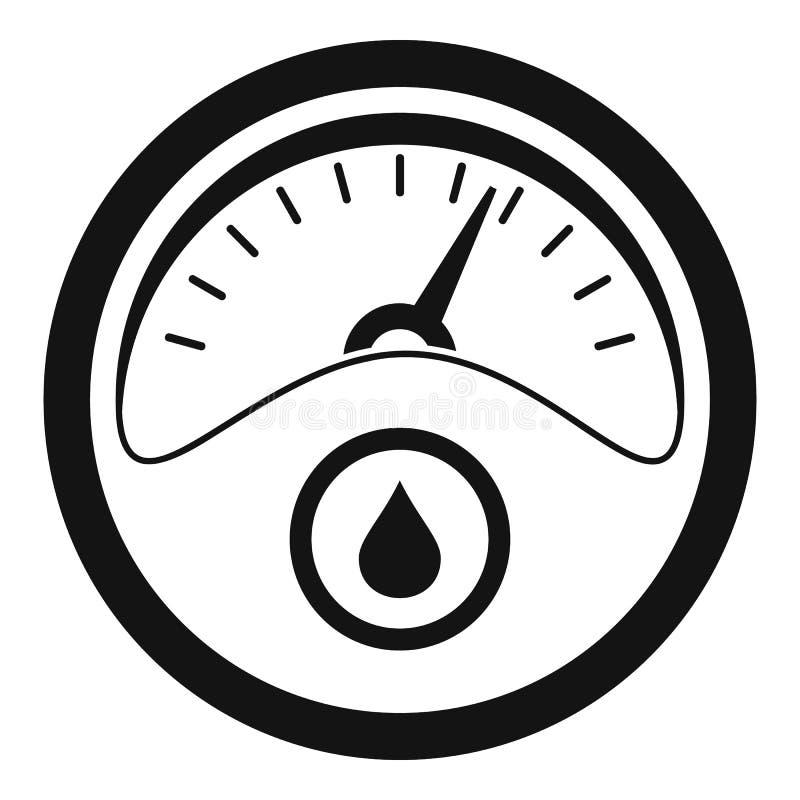 Icono del tablero de instrumentos de la gasolina, estilo simple stock de ilustración