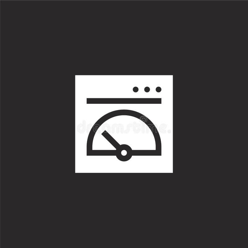Icono del tablero de instrumentos Icono llenado del tablero de instrumentos para el diseño y el móvil, desarrollo de la página we libre illustration