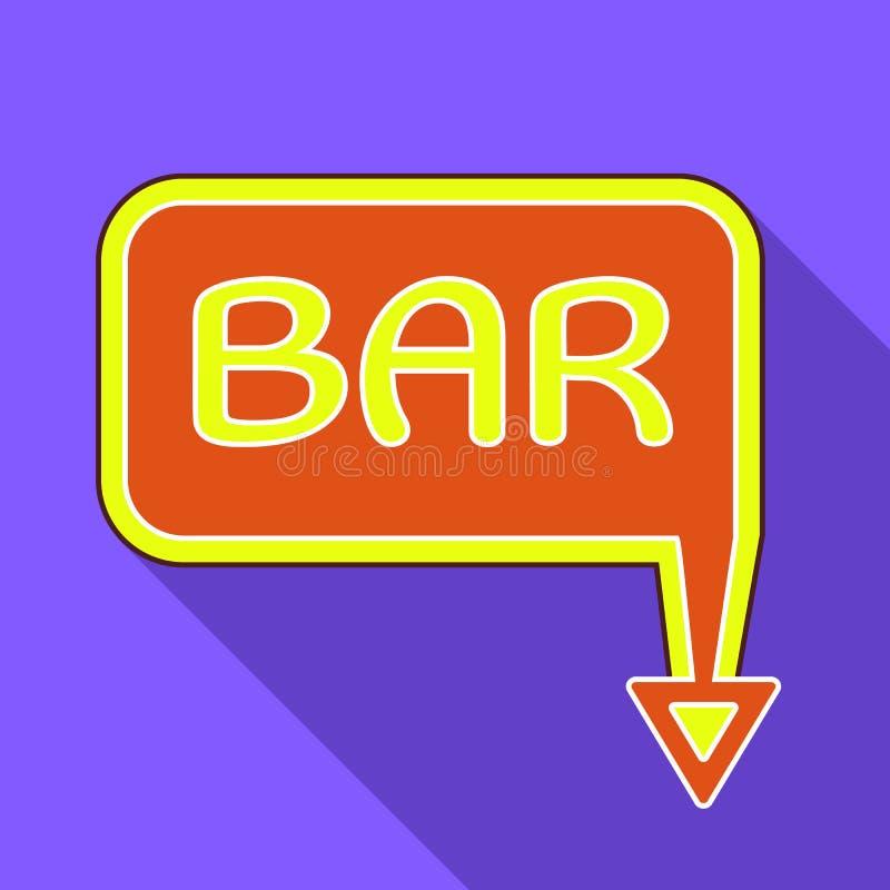 Icono del tablero de la barra, estilo plano ilustración del vector