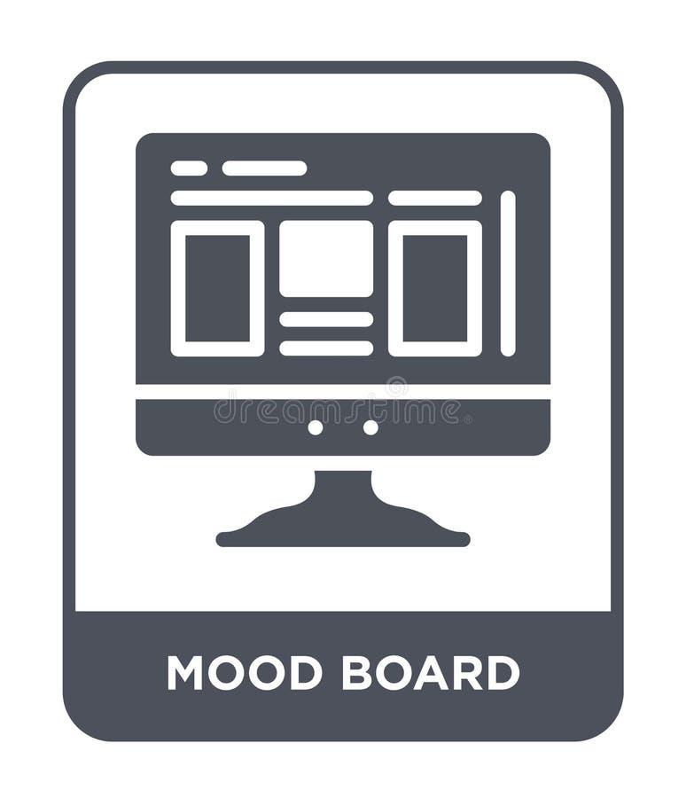 icono del tablero del humor en estilo de moda del diseño icono del tablero del humor aislado en el fondo blanco icono del vector  ilustración del vector