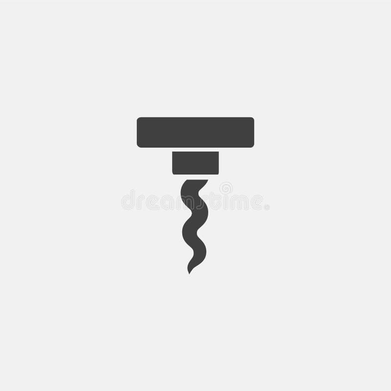 Icono del taladro ilustración del vector