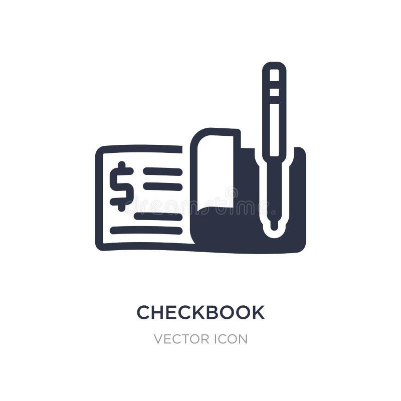 icono del talonario de cheques en el fondo blanco Ejemplo simple del elemento del concepto de la economía de Digitaces ilustración del vector