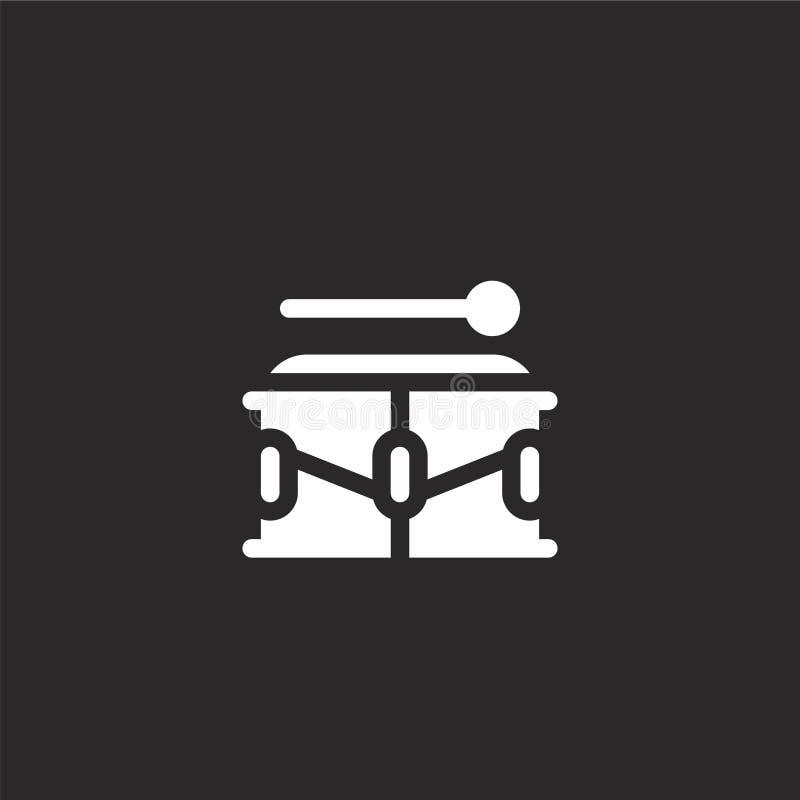 Icono del tambor Icono llenado del tambor para el diseño y el móvil, desarrollo de la página web del app icono del tambor de la c stock de ilustración