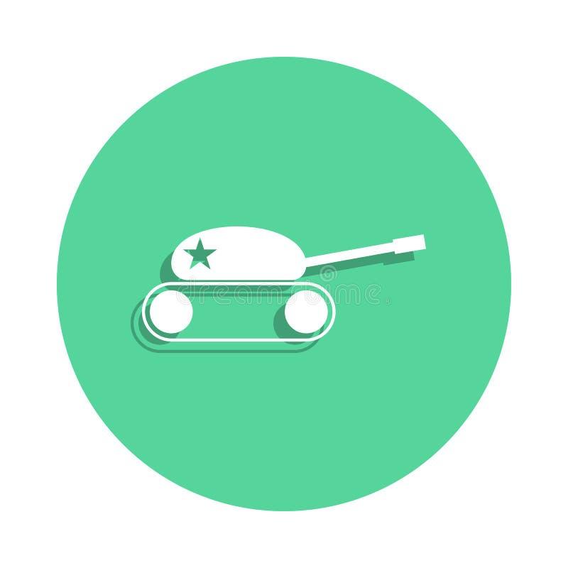 icono del tanque del juguete en estilo de la insignia Uno del icono de la colección de los juguetes se puede utilizar para UI, UX stock de ilustración