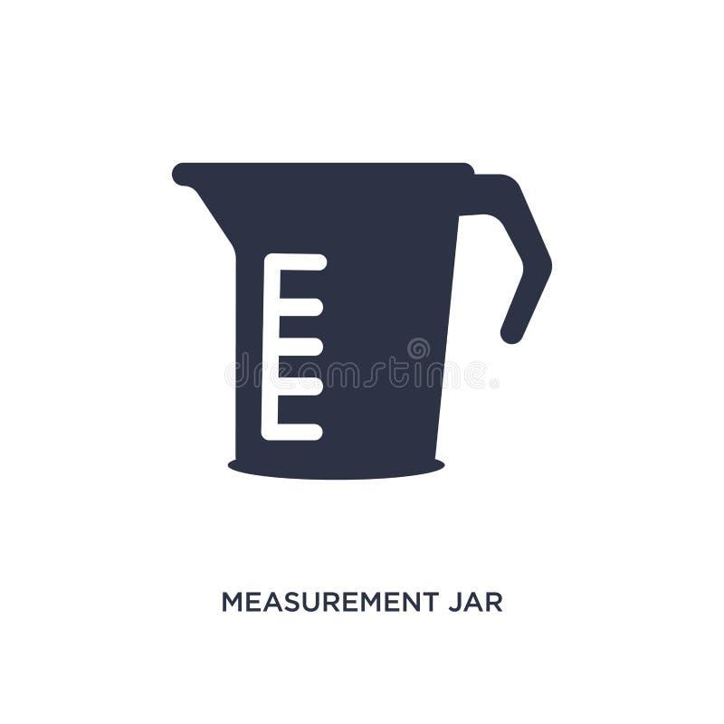 icono del tarro de la medida en el fondo blanco Ejemplo simple del elemento del concepto de los bistros y del restaurante libre illustration
