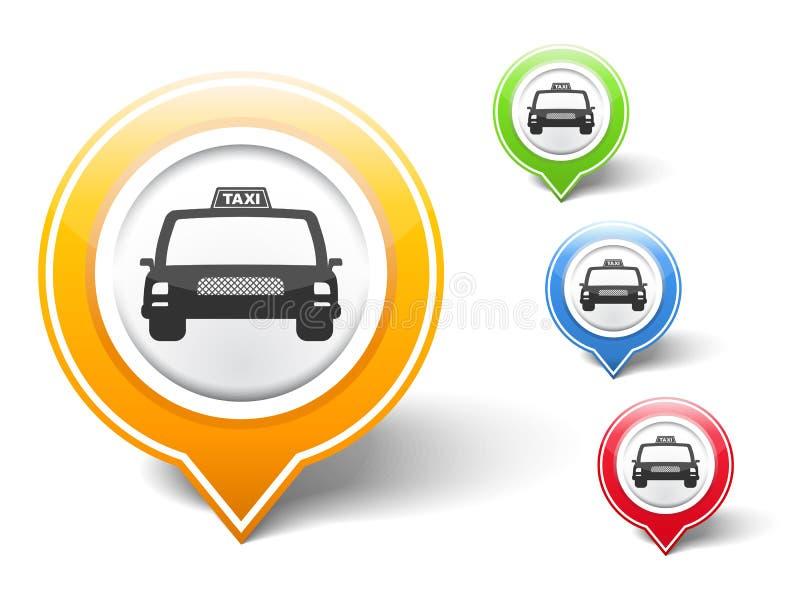 Icono del taxi libre illustration