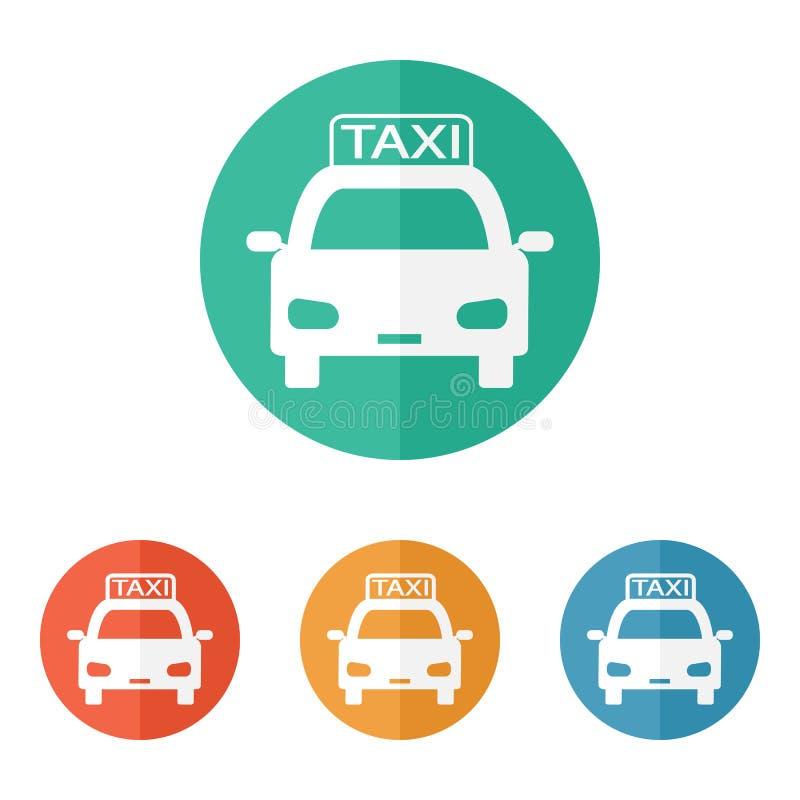 Icono del taxi ilustración del vector