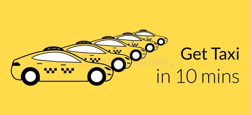 Icono del taxi stock de ilustración