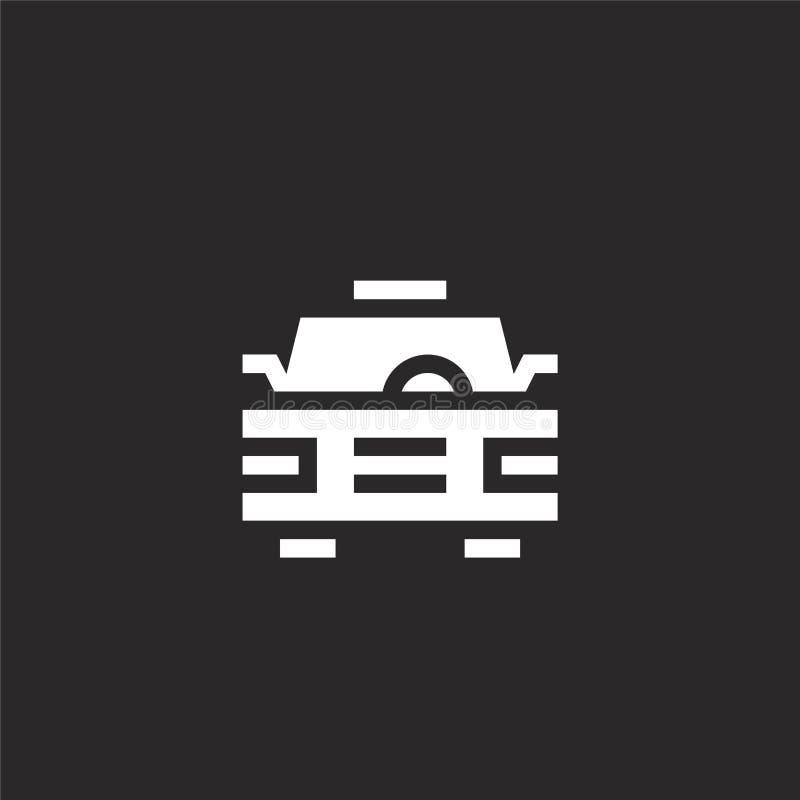Icono del taxi Icono llenado del taxi para el diseño y el móvil, desarrollo de la página web del app icono del taxi de la colecci stock de ilustración
