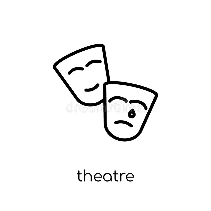 Icono del teatro  ilustración del vector