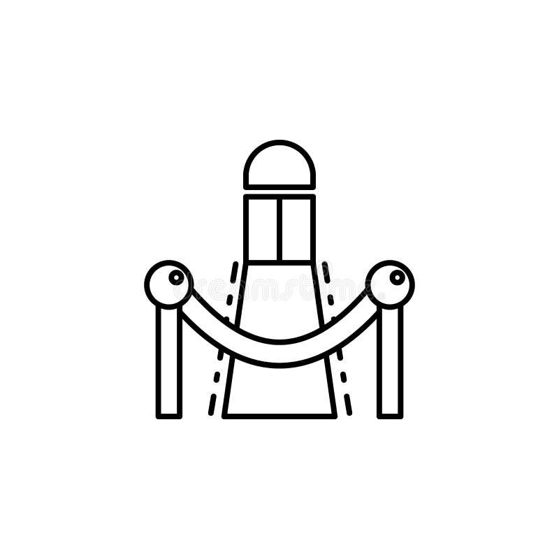 Icono del teatro de la premier Elemento del ejemplo del teatro Icono superior del diseño gráfico de la calidad Muestras e icono d ilustración del vector