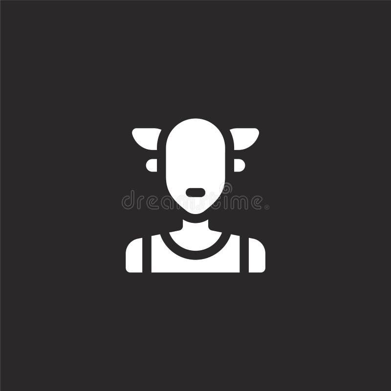 icono del techno Icono llenado del techno para el diseño y el móvil, desarrollo de la página web del app icono del techno de la c ilustración del vector