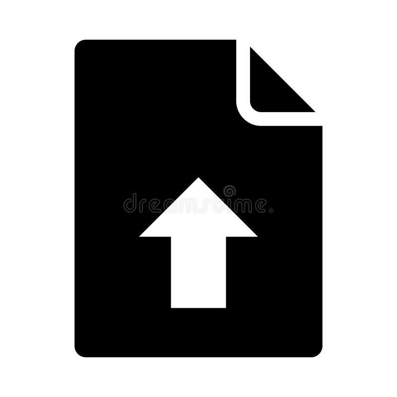 Icono del tecleo del documento ilustración del vector