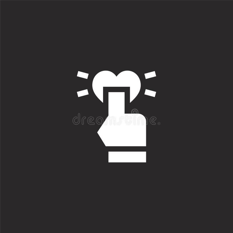 Icono del tecleo Icono llenado del tecleo para el diseño y el móvil, desarrollo de la página web del app haga clic el icono de la ilustración del vector