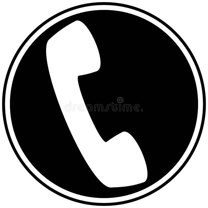 Icono del teléfono ilustración del vector