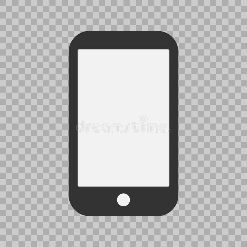 Icono del teléfono, ejemplo del vector Muestra plana simple moderna del dispositivo Concepto del ordenador de Internet Símbolo de libre illustration