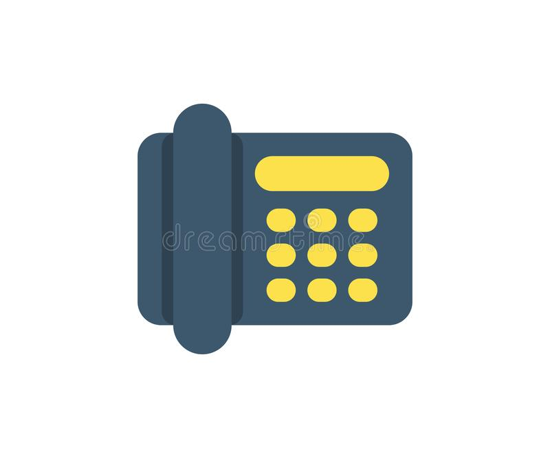 Icono del teléfono Ejemplo del vector en estilo minimalista plano ilustración del vector