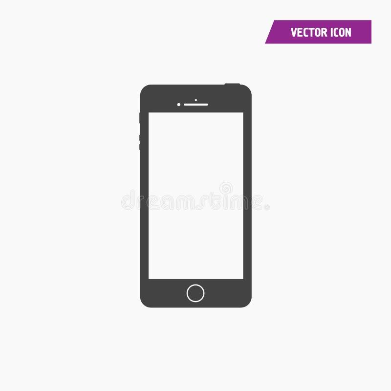 Icono del teléfono móvil con la pantalla en blanco fotos de archivo