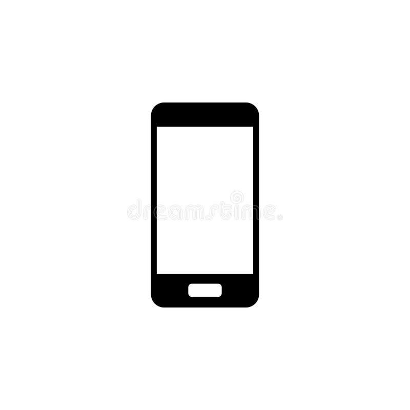 Icono del teléfono móvil Elemento del icono del web para los apps móviles del concepto y del web El icono aislado del teléfono mó ilustración del vector