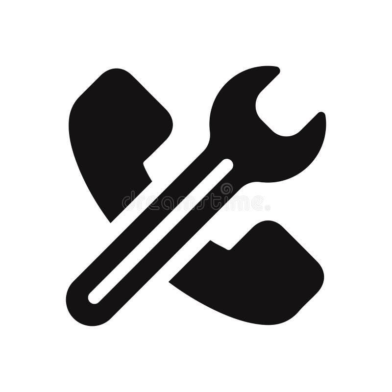 Icono del teléfono y muestra de la llave Símbolo plano moderno y simple para el sitio web, móvil, logotipo, app, UI ilustración del vector
