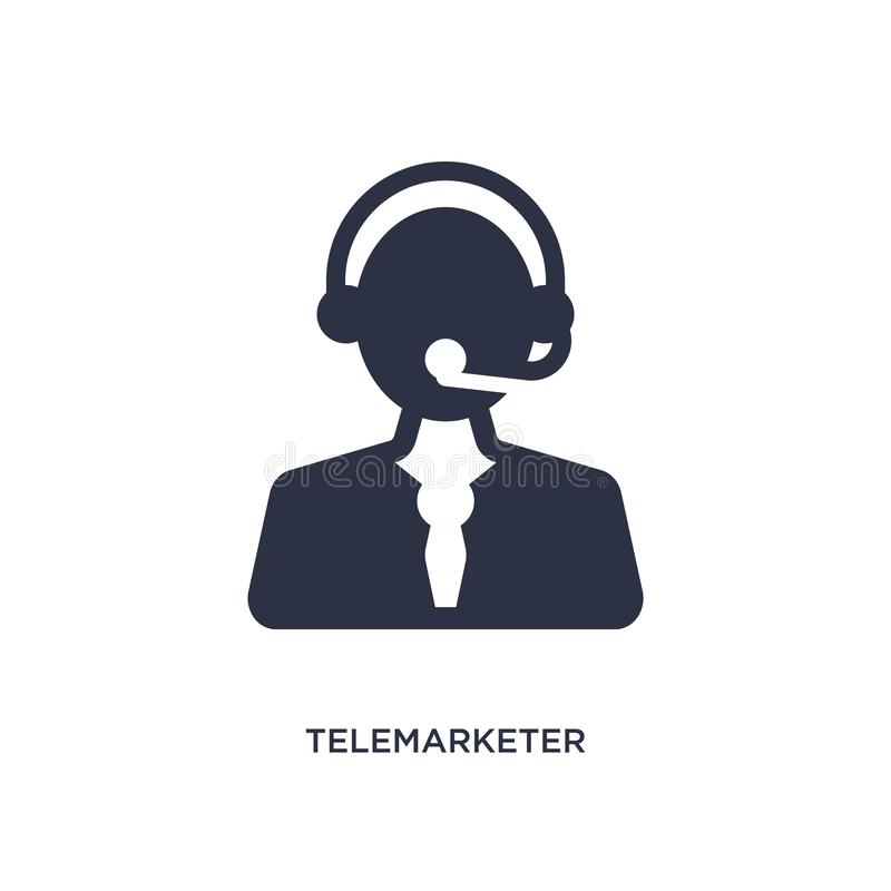 icono del teleoperador en el fondo blanco Ejemplo simple del elemento del concepto del servicio de atención al cliente libre illustration
