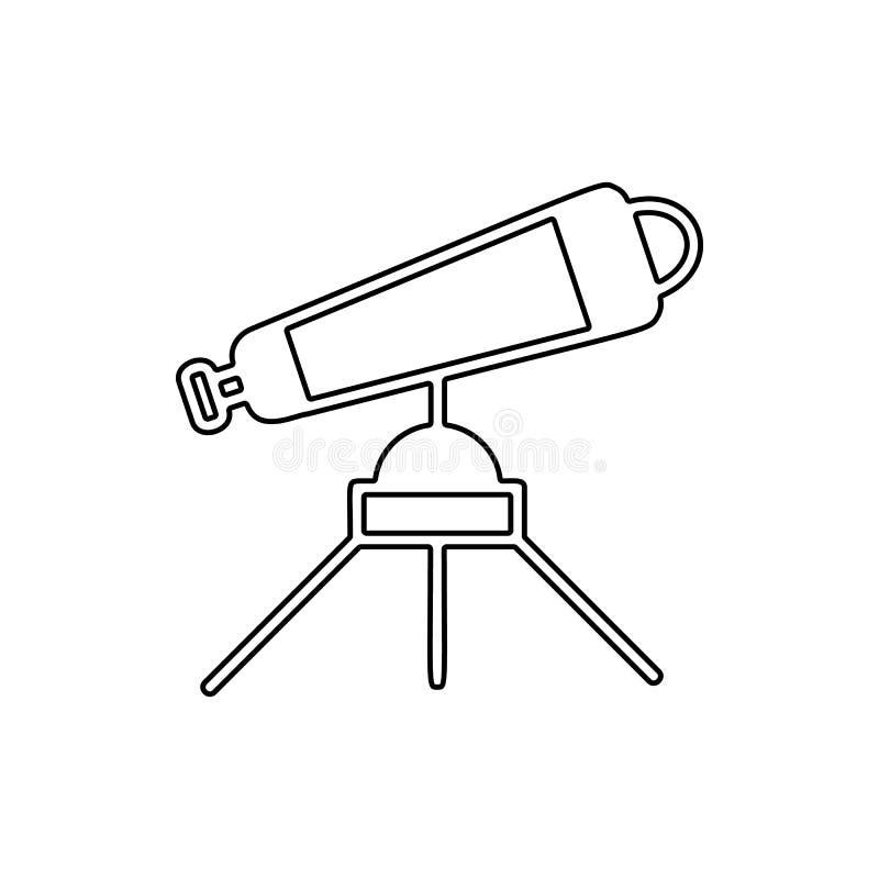 Icono del telescopio Elemento del espacio para el concepto y el icono móviles de los apps de la web Línea fina icono para el dise ilustración del vector