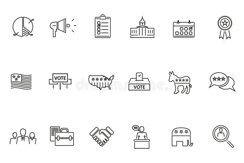 Icono del tema de la elección ilustración del vector