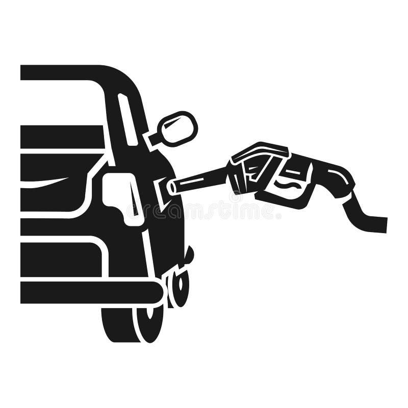 Icono del terraplén del coche de la gasolina, estilo simple ilustración del vector