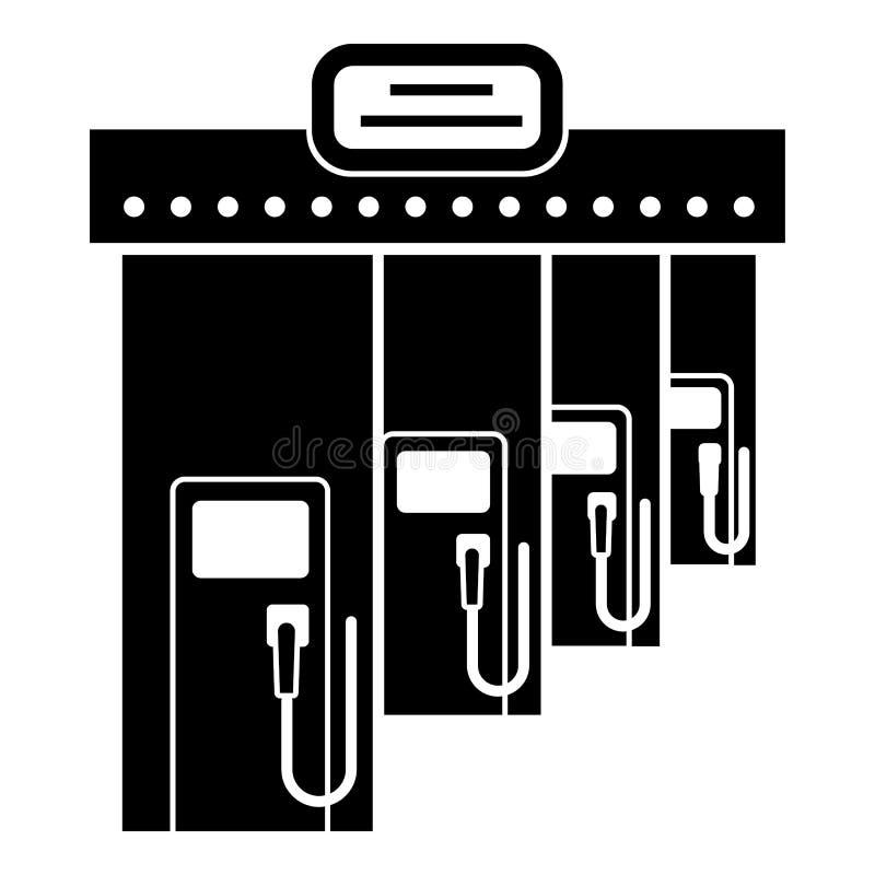 Icono del terraplén de la gasolina del gas, estilo simple ilustración del vector