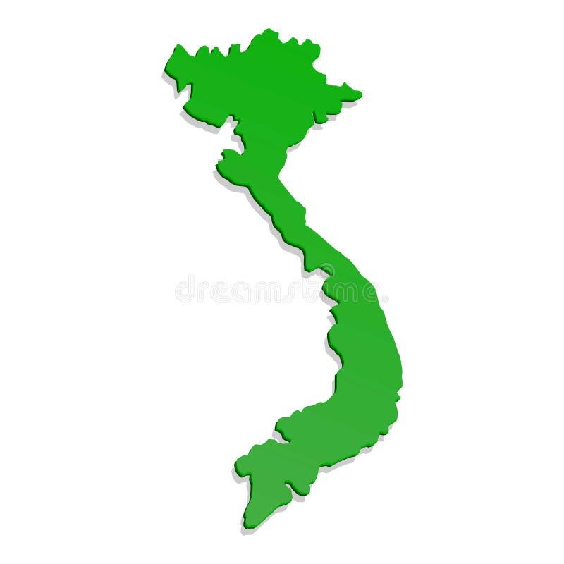 Icono del territorio de Vietnam, estilo de la historieta ilustración del vector
