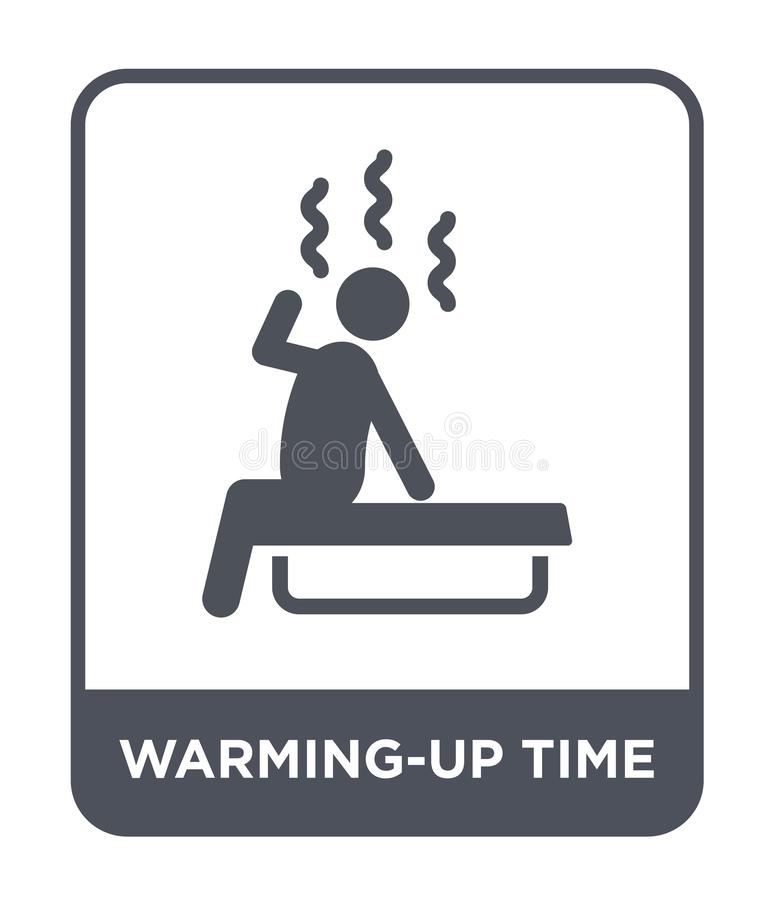 icono del tiempo del calentamiento en estilo de moda del diseño icono del tiempo del calentamiento aislado en el fondo blanco ico ilustración del vector