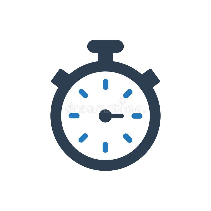 Icono del tiempo de la productividad ilustración del vector