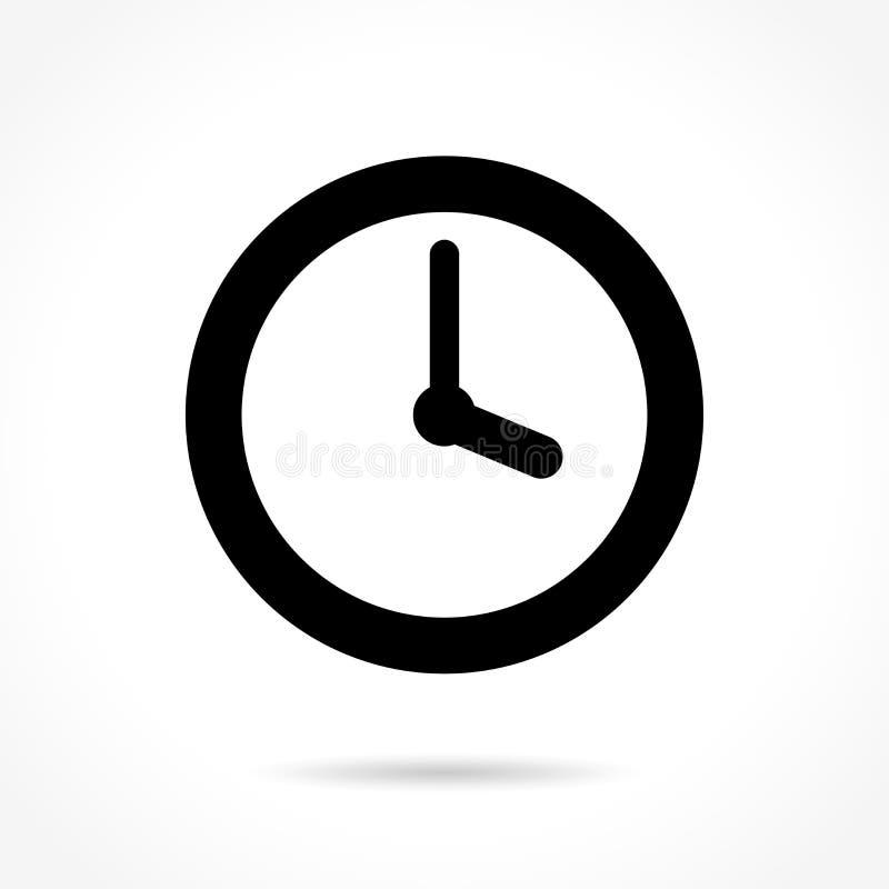 Icono del tiempo en el fondo blanco libre illustration
