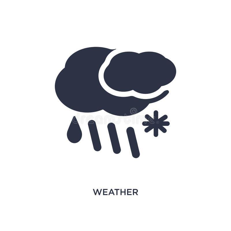 Icono del tiempo en el fondo blanco Ejemplo simple del elemento del concepto de la meteorología libre illustration