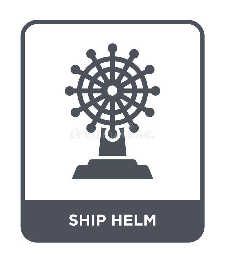 icono del timón de la nave en estilo de moda del diseño Icono del timón de la nave aislado en el fondo blanco plano simple y mode stock de ilustración