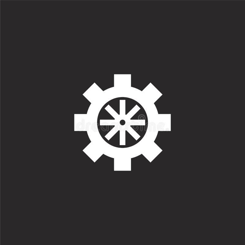 Icono del tim?n Icono llenado del timón para el diseño y el móvil, desarrollo de la página web del app icono del timón de la cole ilustración del vector
