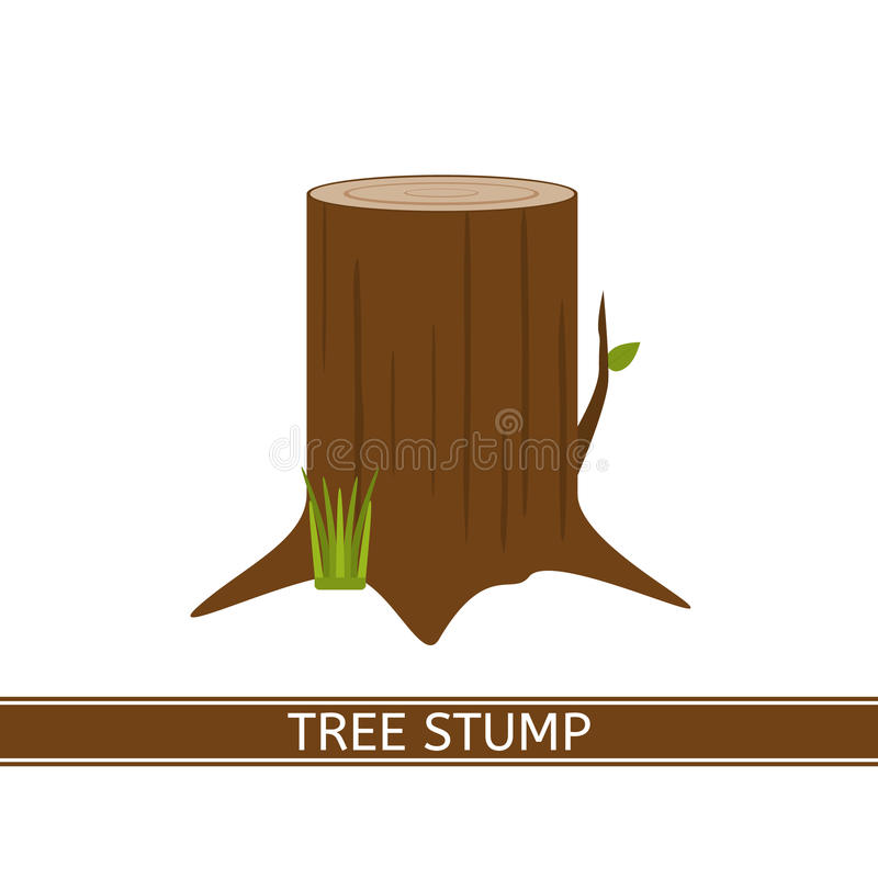 Icono del tocón de árbol ilustración del vector