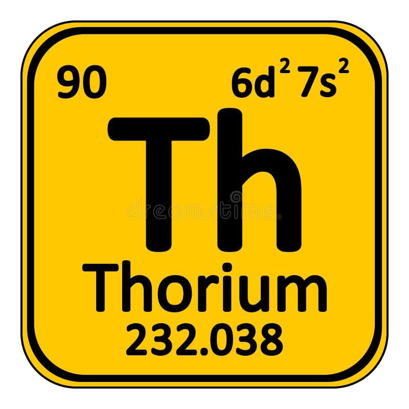 Icono del torio del elemento de tabla periódica stock de ilustración