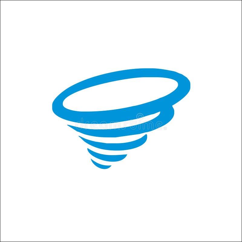Icono del tornado Ejemplo simple del vector del tornado ilustración del vector