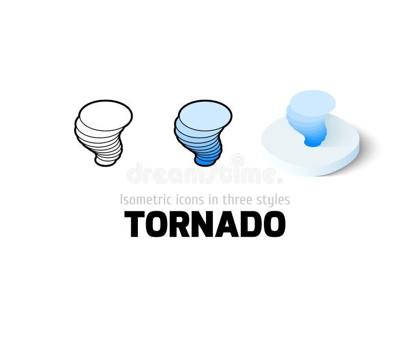 Icono del tornado en diverso estilo libre illustration