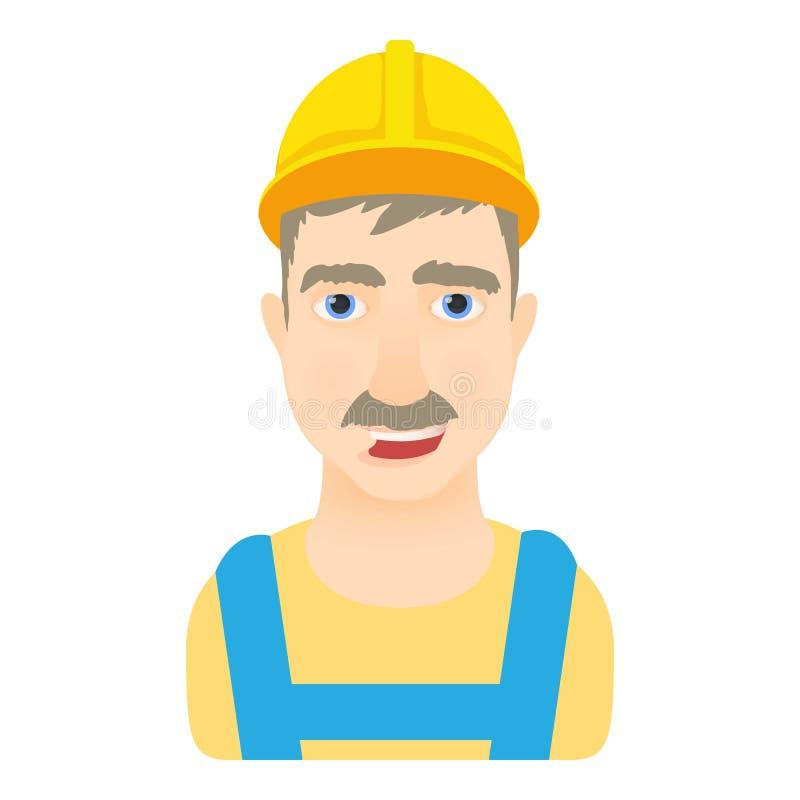 Icono del trabajador, estilo de la historieta libre illustration