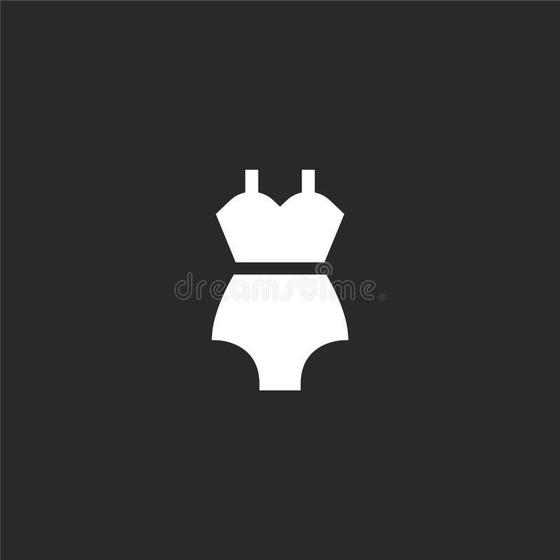 Icono del traje de ba?o Icono llenado del traje de baño para el diseño y el móvil, desarrollo de la página web del app icono del  ilustración del vector