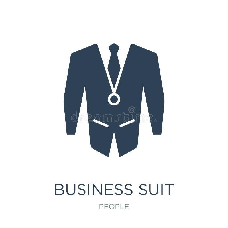 icono del traje de negocios en estilo de moda del diseño icono del traje de negocios aislado en el fondo blanco icono del vector  stock de ilustración