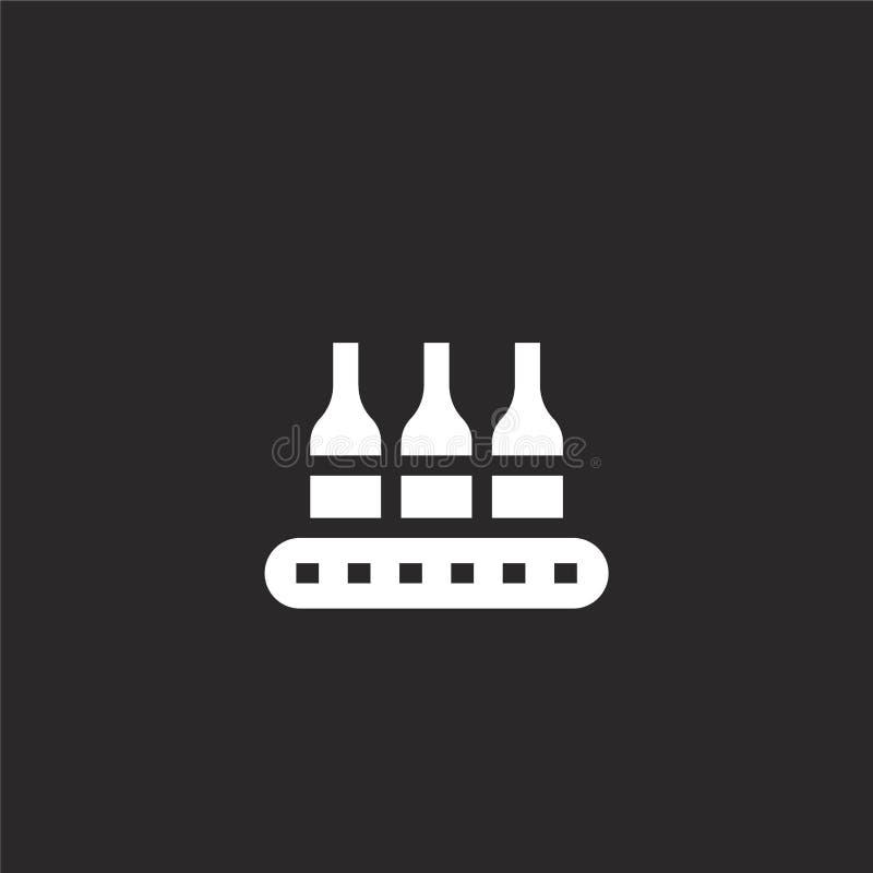 Icono del transportador Icono llenado del transportador para el diseño y el móvil, desarrollo de la página web del app icono del  libre illustration