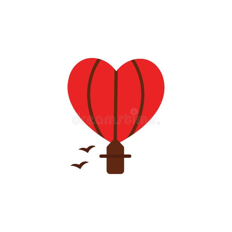 Icono del transporte de las tarjetas del día de San Valentín Elemento del icono del día de San Valentín de la web para los apps m ilustración del vector