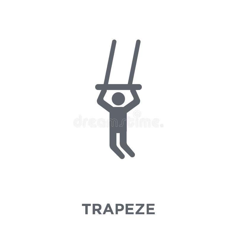 icono del trapecio de la colección del circo ilustración del vector