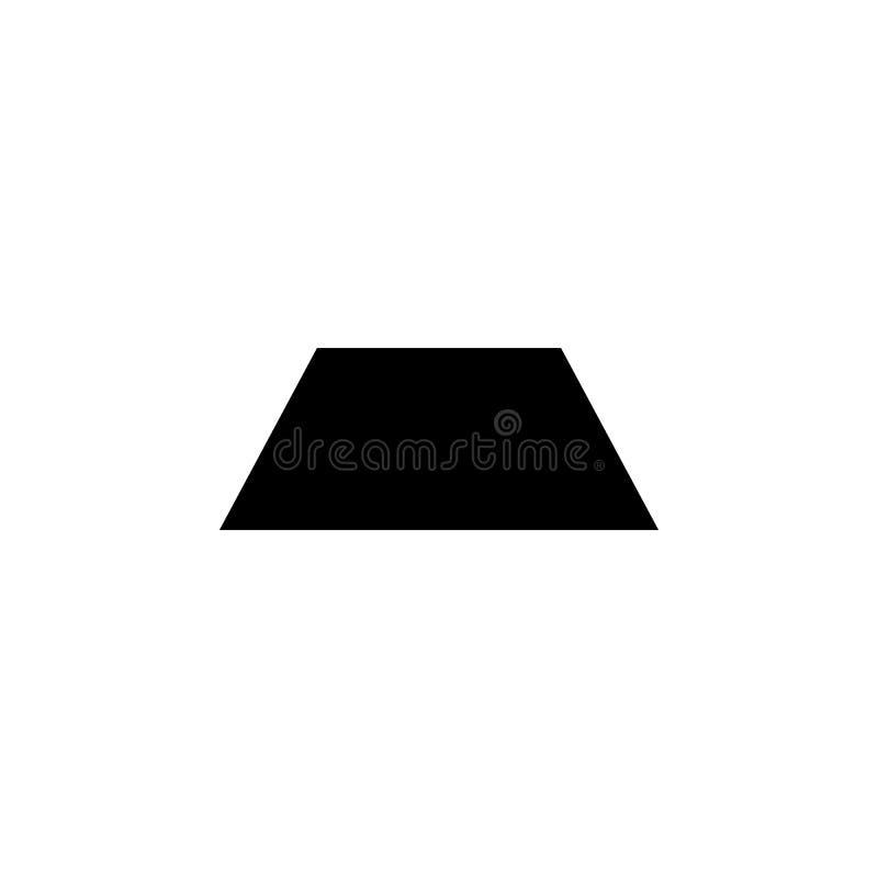 Icono del trapecio Elementos de la figura geométrica icono para los apps del concepto y del web Icono del ejemplo para el diseño  ilustración del vector